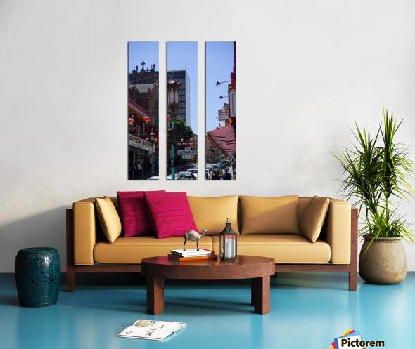 Snapshot in Time Chinatown 2 @ San Francisco Split Canvas print