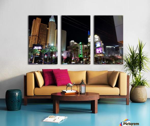 Viva Las Vegas 2 Split Canvas print