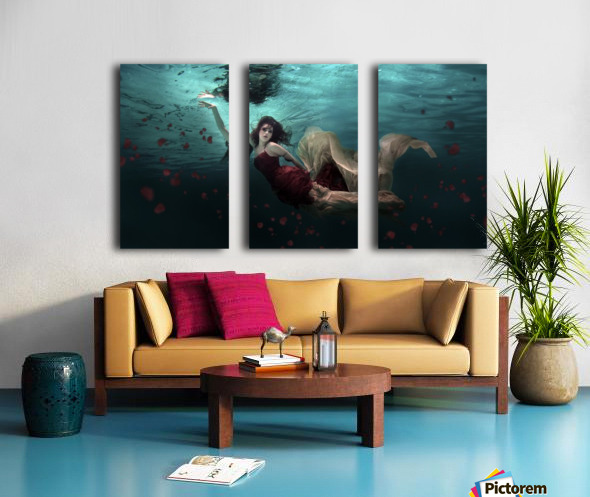Ocean of Roses Split Canvas print