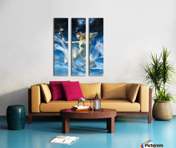 Aqua-Theatre Split Canvas print