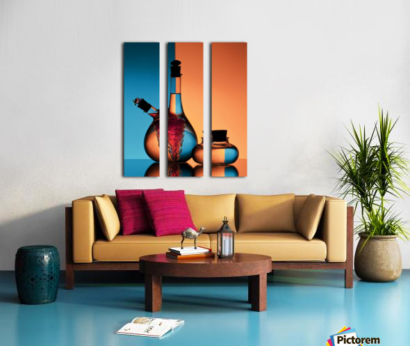 Oil and Vinegar Split Canvas print