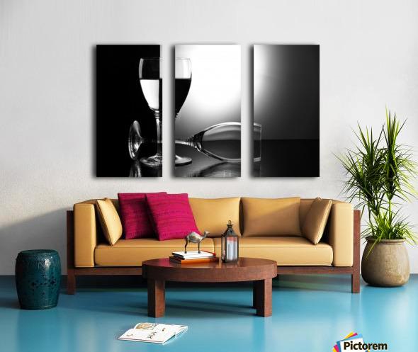 Glasses by madras91   Split Canvas print