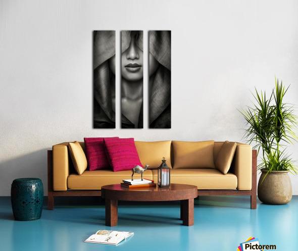 Hood by azalaka   Split Canvas print