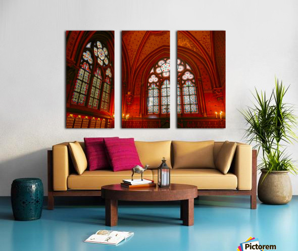 Jeanne d Arc and Saint Croix Cathedral at Orleans   France 6 of 7 Split Canvas print