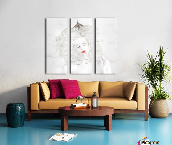 birdcage love Split Canvas print