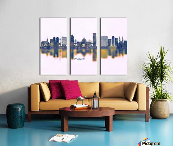 Zagreb Skyline Split Canvas print