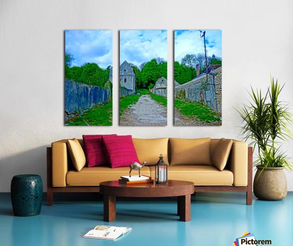 The Road Less Traveled Split Canvas print