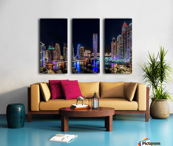 Happy New Year Dubai Split Canvas print