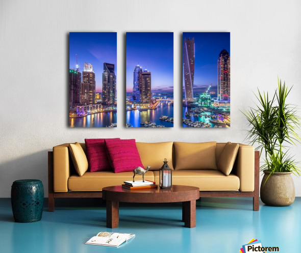 Dubai Marina Split Canvas print