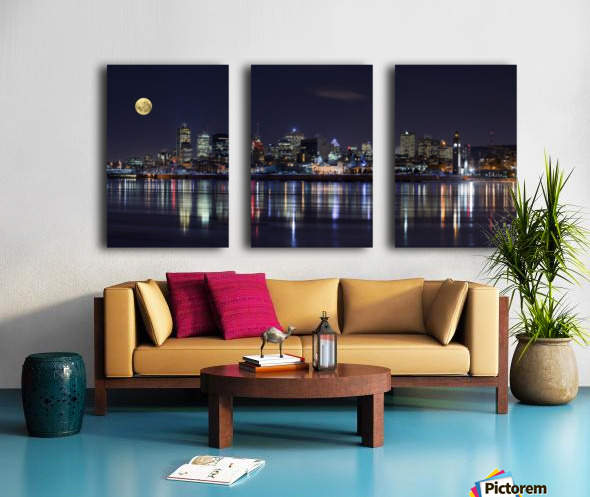 Montreal Night Split Canvas print