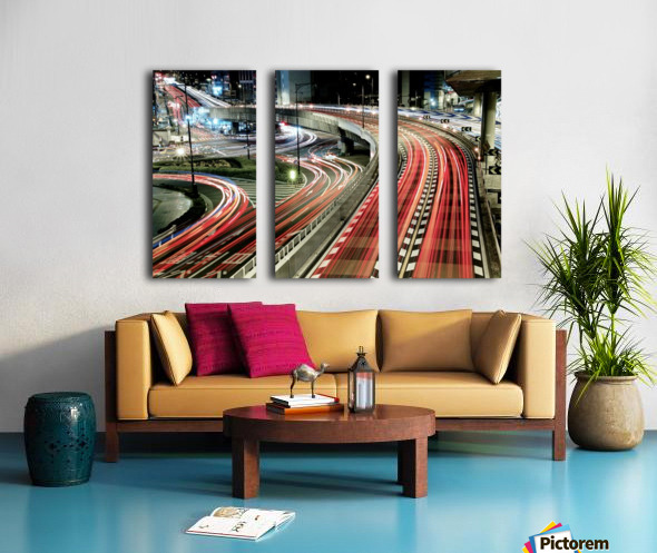 Chaotic Traffic Split Canvas print