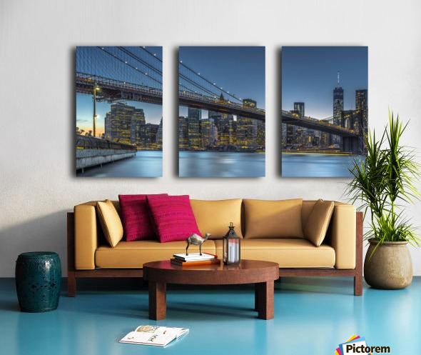 New York - Blue Hour over Manhattan Split Canvas print