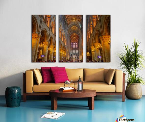 Saint Croix Cathedral France Split Canvas print
