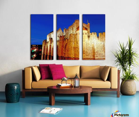 Castle of the Counts Belgium Split Canvas print