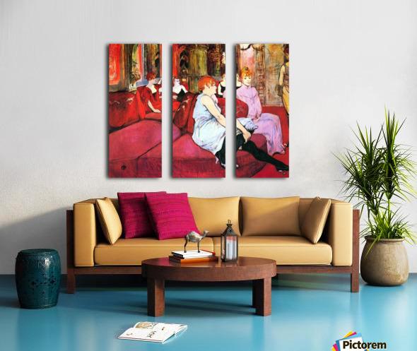 Salon in the Rue de Moulins by Toulouse-Lautrec Split Canvas print