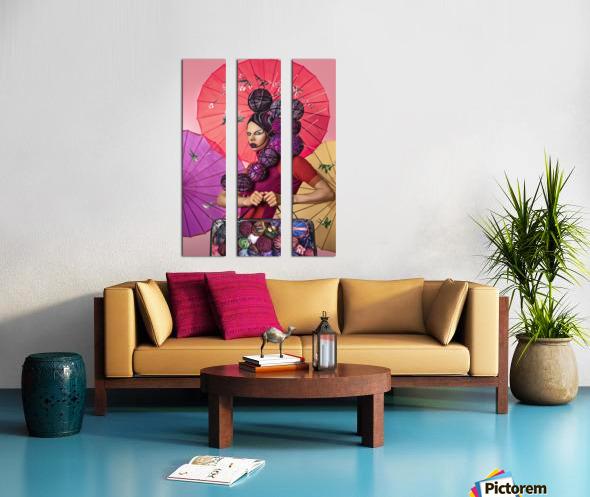 Knit I Split Canvas print