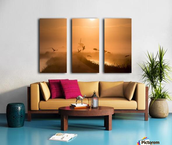 Sunrise Flight Split Canvas print