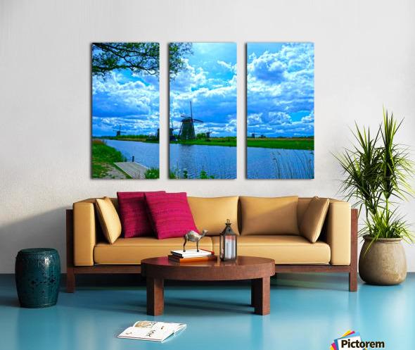 Windmills of the Netherlands 2 of 4 Split Canvas print
