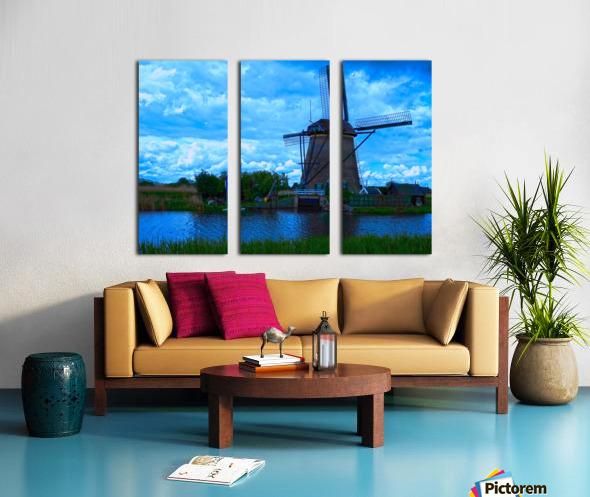 Windmill After the Storm Split Canvas print