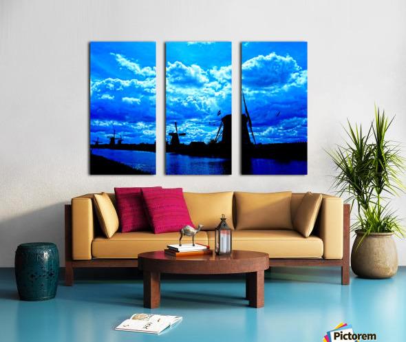 Windmills of the Netherlands 4 of 4 Split Canvas print