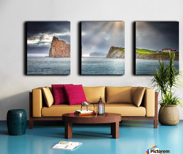 Cap Mont-Joli et son Rocher Perce Split Canvas print