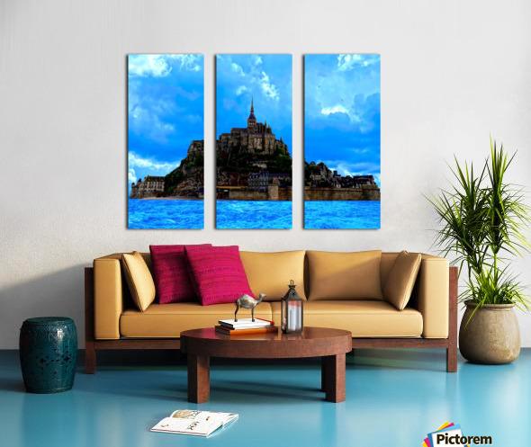 Mont St Michel Panorama Split Canvas print