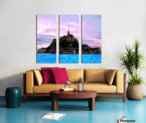 Mont St Michel at Sunset - France Split Canvas print