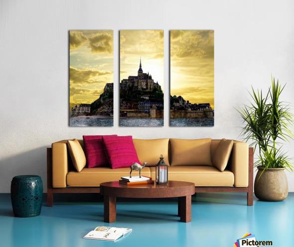 Golden Mont St Michel - Normandy France Split Canvas print
