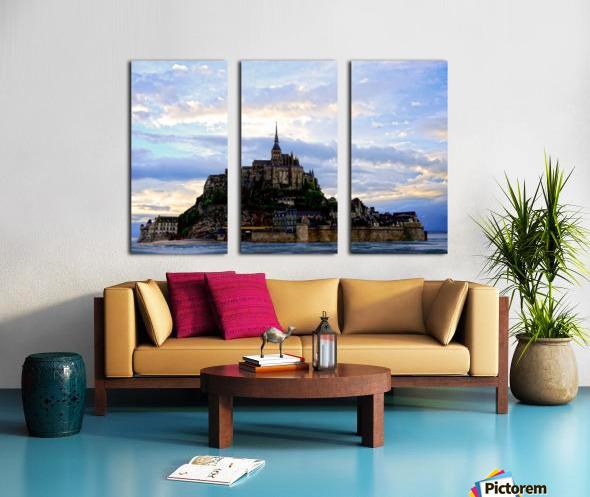 Mont St Michael Rising Tide - France Split Canvas print