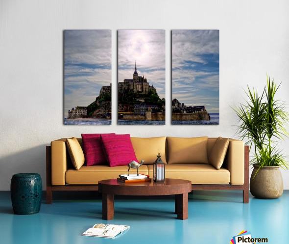 Mount Saint Michael The Fires of Heaven - Normandy France Split Canvas print