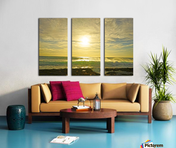 Splash - Sunset Hawaii Split Canvas print