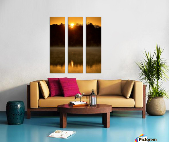 Sunrise at Langley Pond Park   Aiken SC 7R301617 12 19 20 Split Canvas print