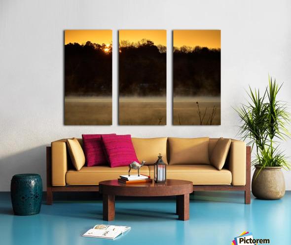 Sunrise at Langley Pond Park   Aiken SC 7R301610 12 19 20 Split Canvas print