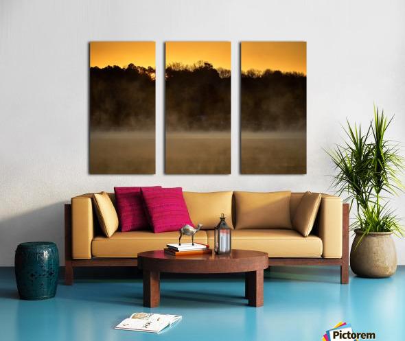 Sunrise at Langley Pond Park   Aiken SC 7R301594 12 19 20 Split Canvas print