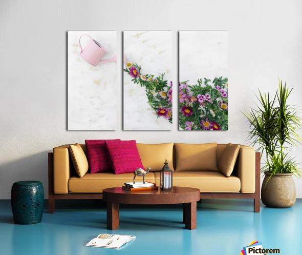 Daltana Spring Griall Split Canvas print