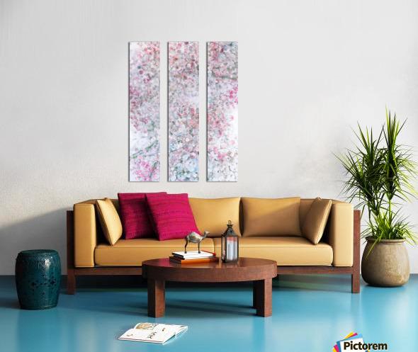 Daltana Pastel Floral Dianola Split Canvas print