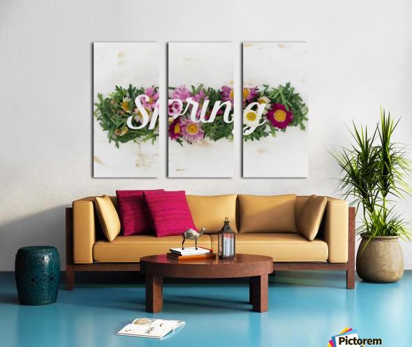 Daltana Spring Irill Split Canvas print