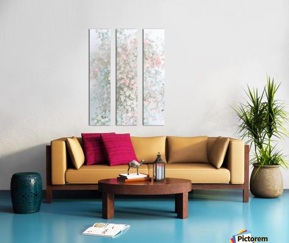 Daltana Pastel Floral Aera Split Canvas print