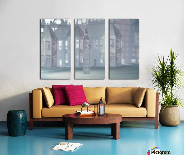 Daltana Pastel London Lindora Split Canvas print