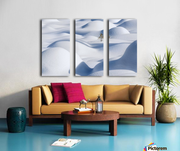 Standing in the Waves Split Canvas print