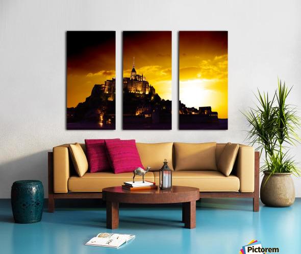 Majestic Mount Saint Michael Split Canvas print