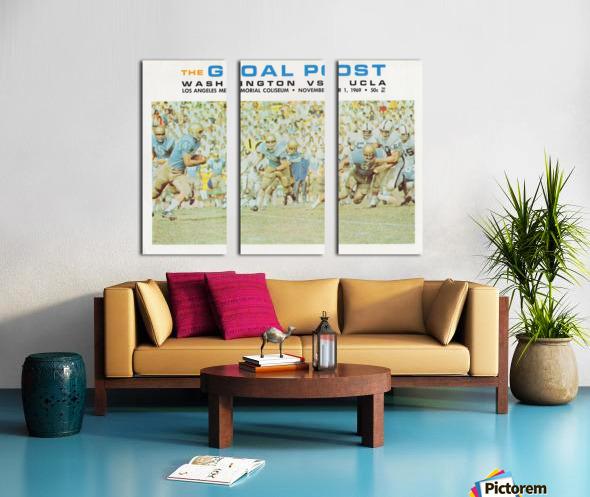 1969 UCLA vs. Washington Football Program Cover Art Split Canvas print