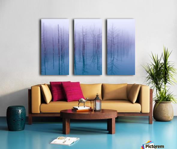 Misty Blue Pond Split Canvas print