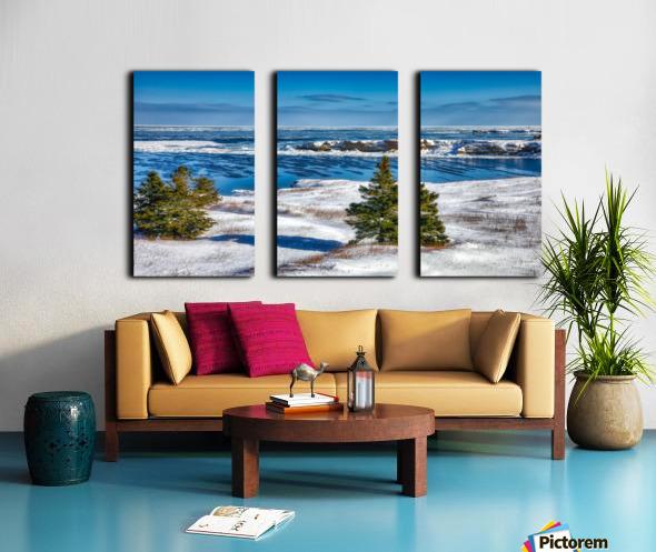 Pointe Saint-Pierre et lIle Plate Split Canvas print