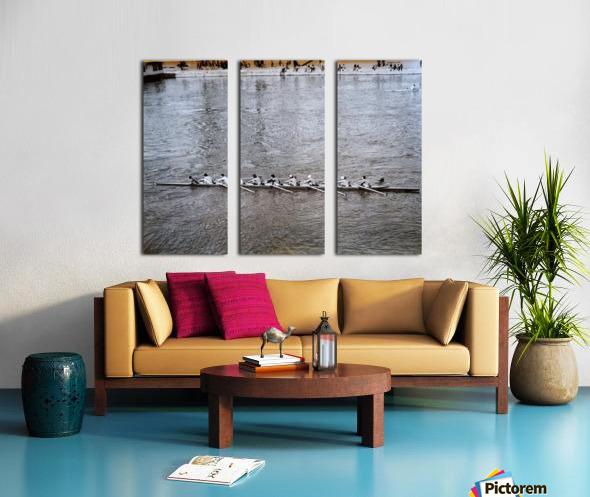 Paris Rowing 1975   2 Split Canvas print