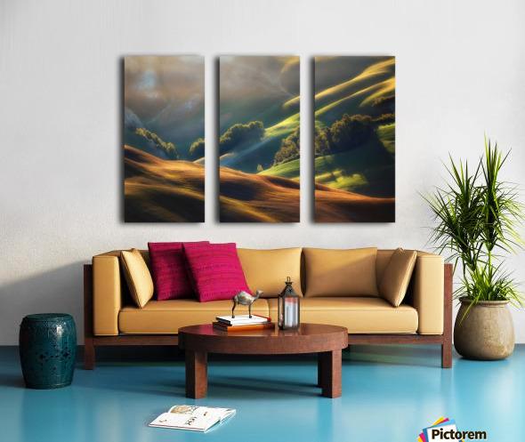 Tuscany Sunrise Split Canvas print