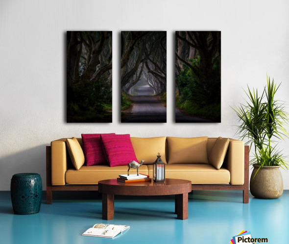 Magic road Split Canvas print