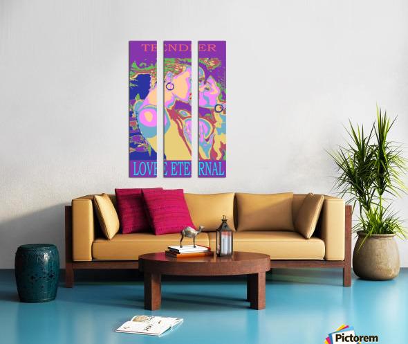 The Kiss Split Canvas print