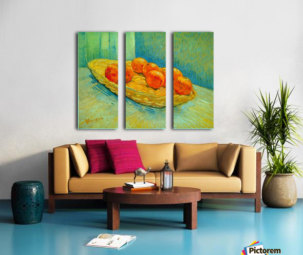 Six Oranges by Van Gogh Split Canvas print