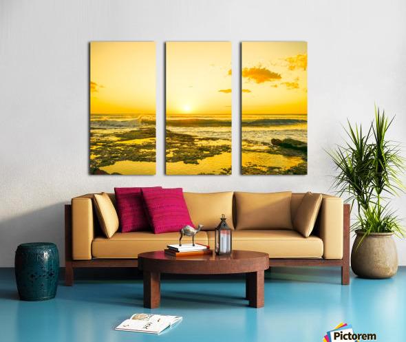 Golden Moment - Sunset Hawaiian Islands Split Canvas print